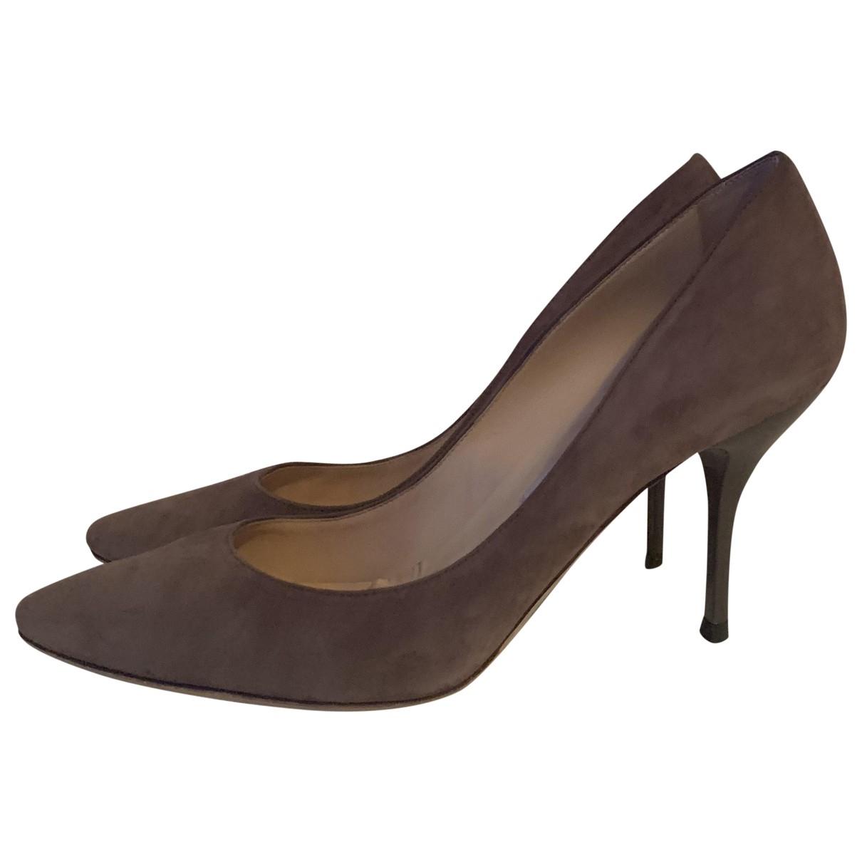Jimmy Choo Esme Grey Suede Heels for Women 6.5 UK