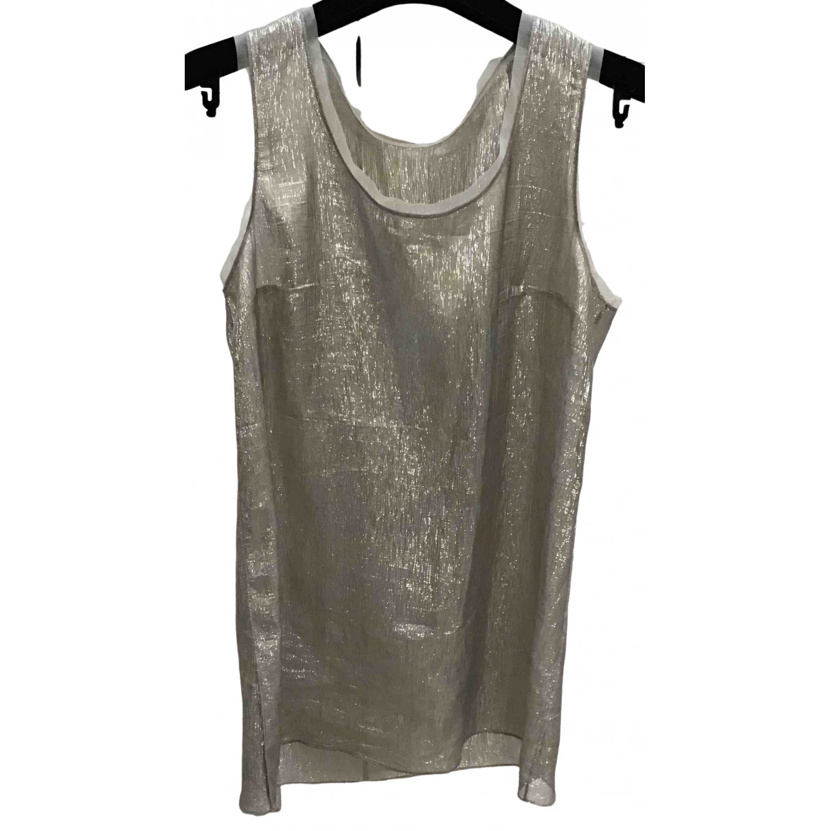 Dolce & Gabbana \N Gold Silk  top for Women 42 IT