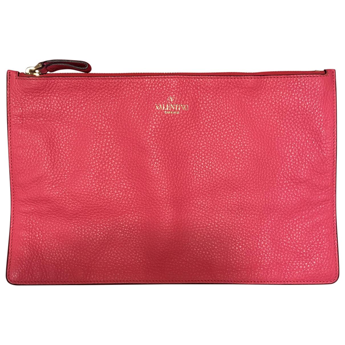 Valentino Garavani N Pink Leather Clutch bag for Women N