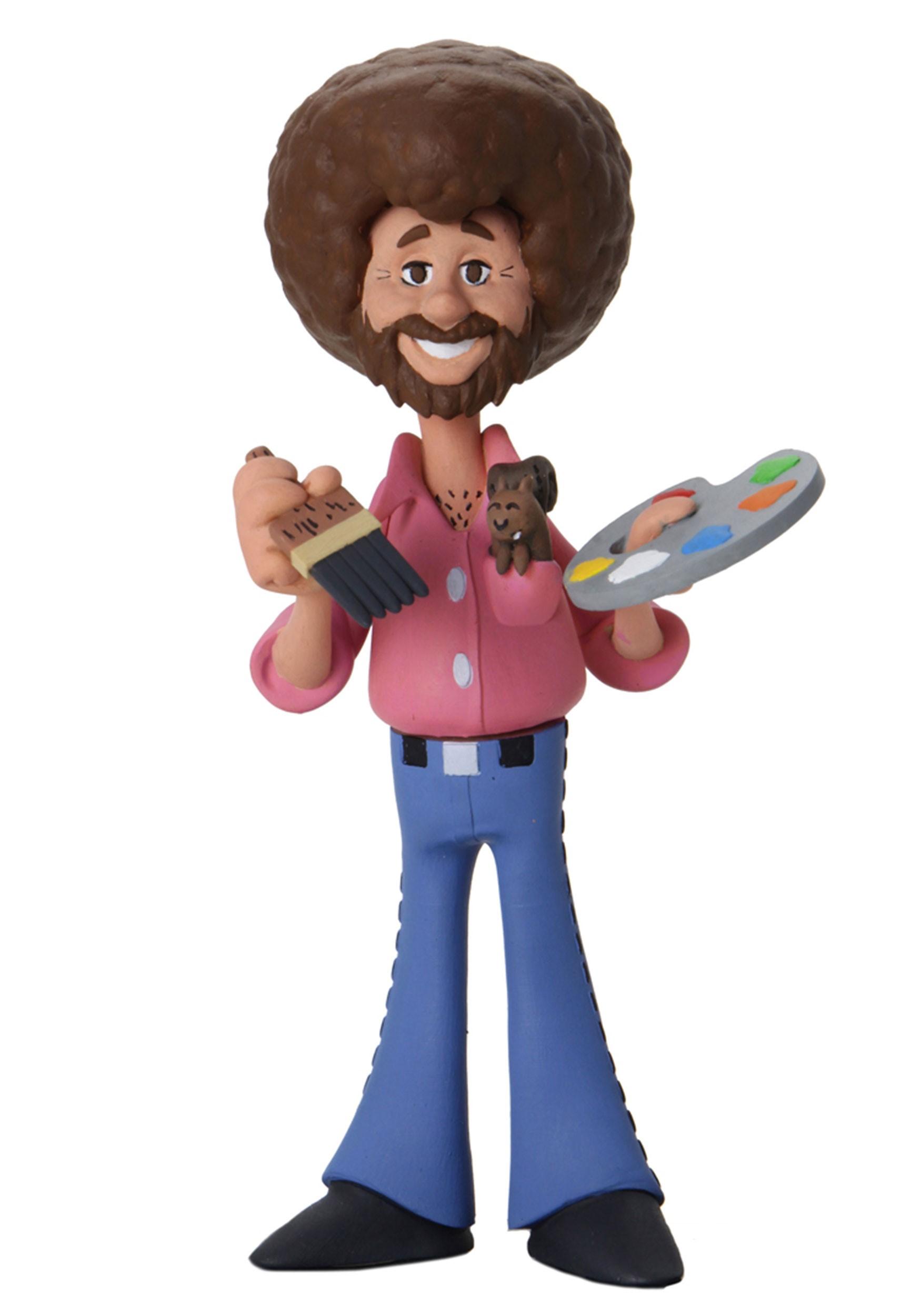 "6"" Bob Ross Toony Classics Scale Action Figure"