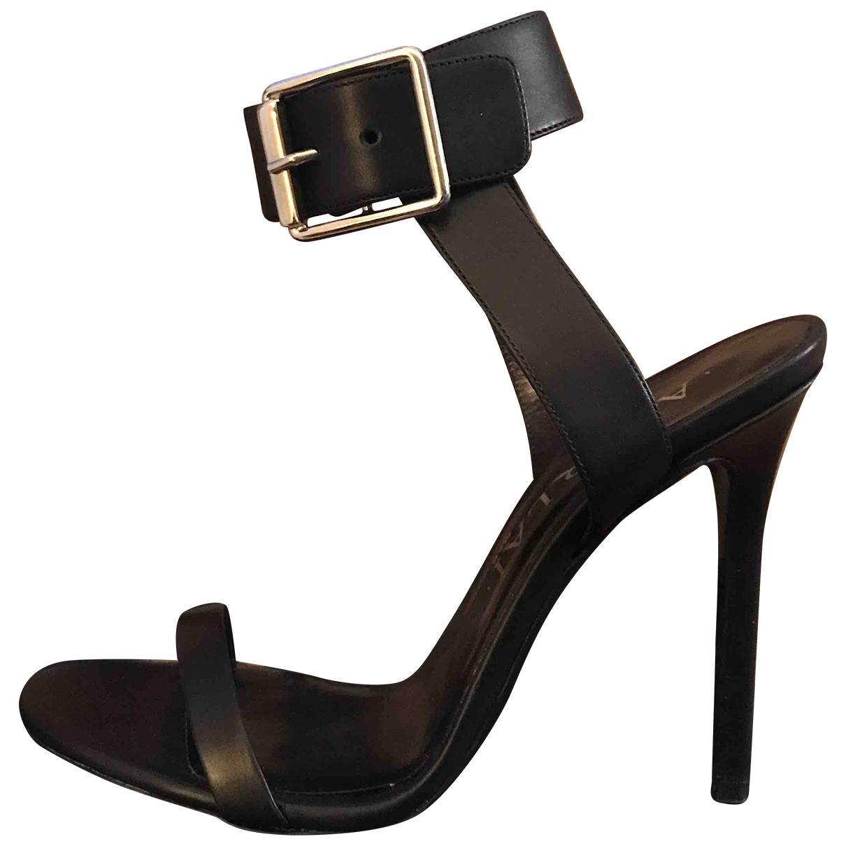 Aperlai \N Black Leather Sandals for Women 37 EU