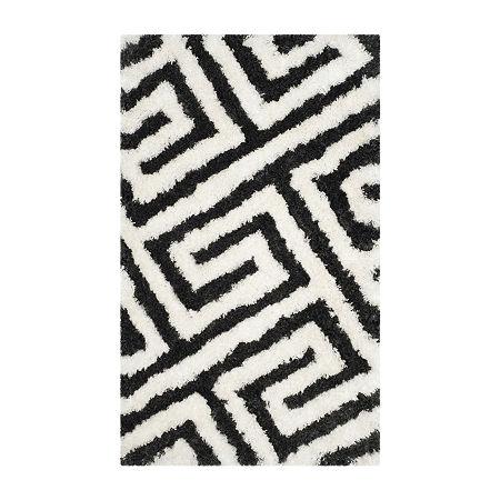 Safavieh Kamryn Geometric Shag Rug, One Size , Gray
