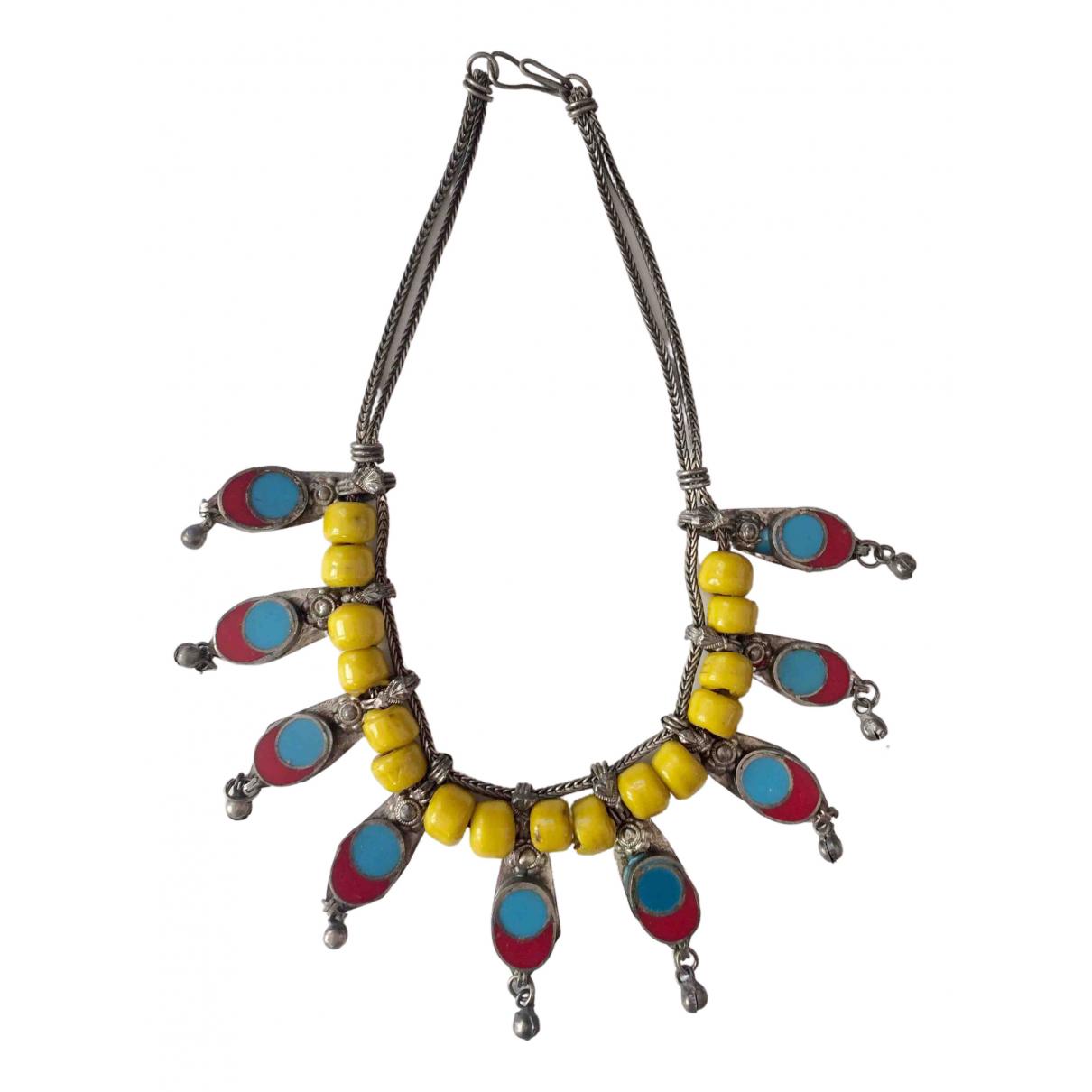 - Sautoir   pour femme en metal - multicolore