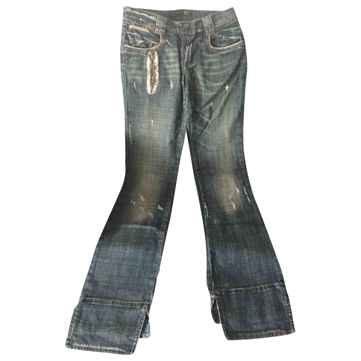 Just Cavalli \N Blue Cotton Jeans for Women 34 FR