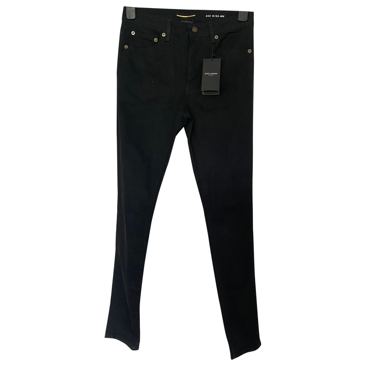 Saint Laurent \N Black Denim - Jeans Jeans for Women 36 FR