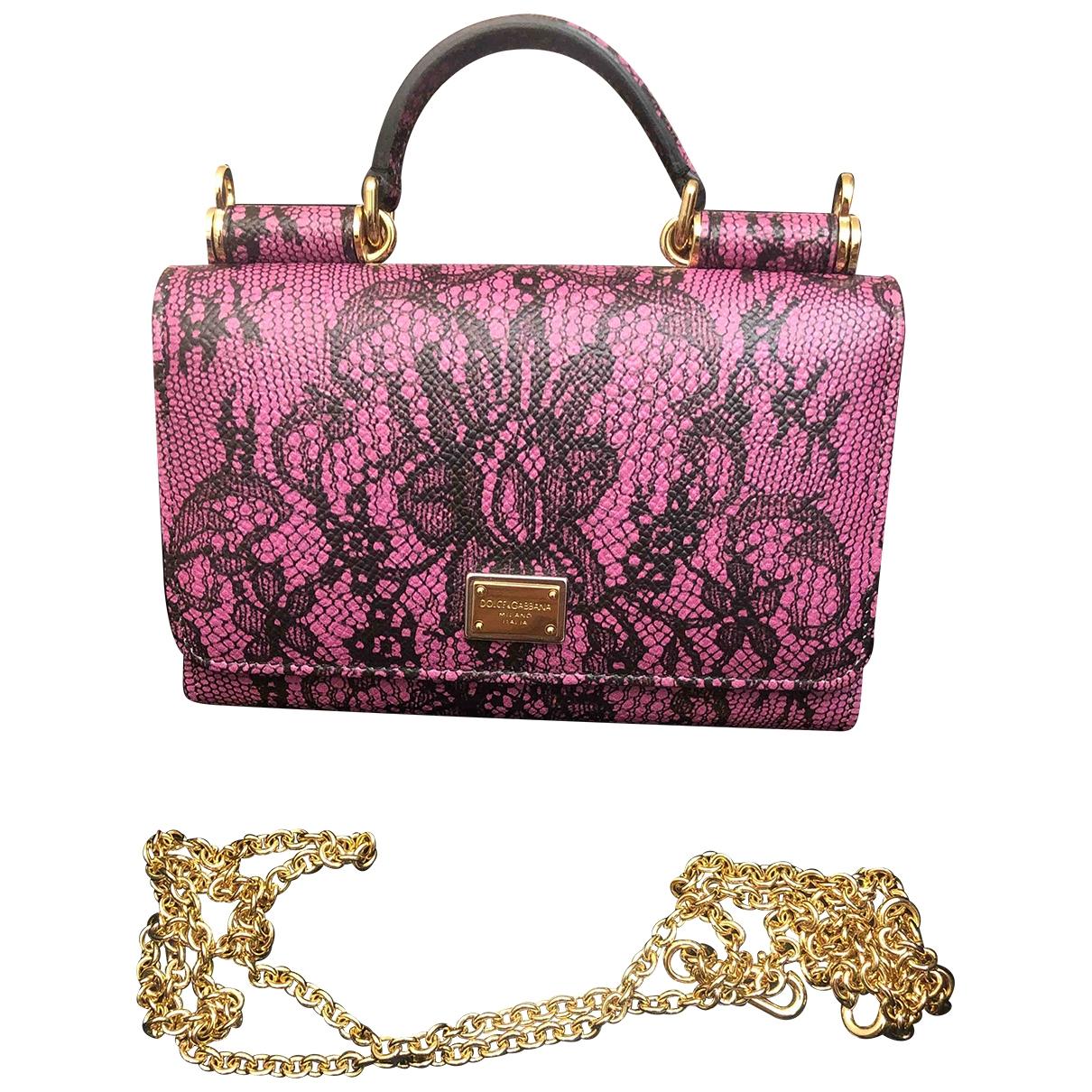 Dolce & Gabbana - Sac a main   pour femme en cuir - rose