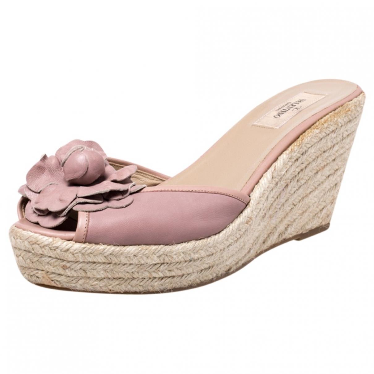 Valentino Garavani - Sandales   pour femme en cuir - rose