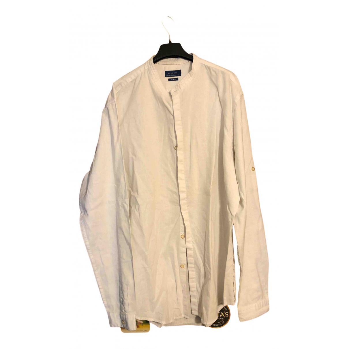 Zara \N White Cotton Shirts for Men XL International