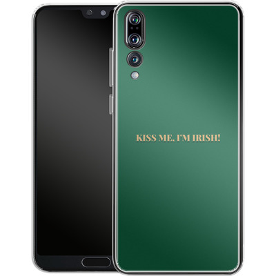 Huawei P20 Pro Silikon Handyhuelle - Kiss Me Im Irish von caseable Designs