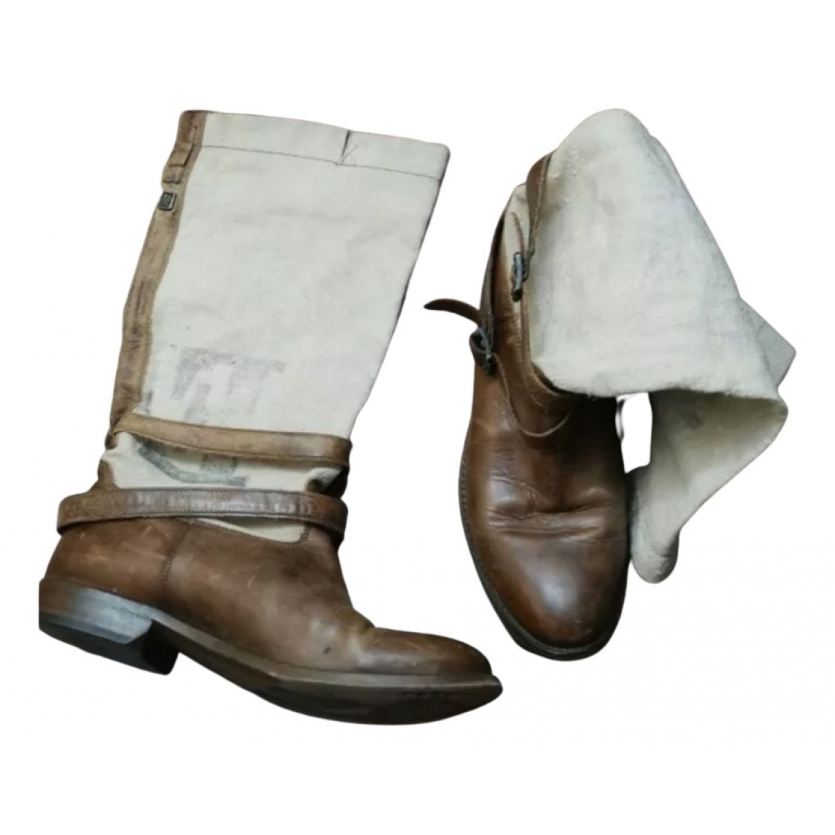 Belstaff \N Stiefel in  Beige Leder