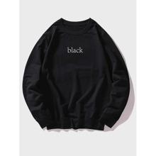 Pullover mit Buchstaben Grafik