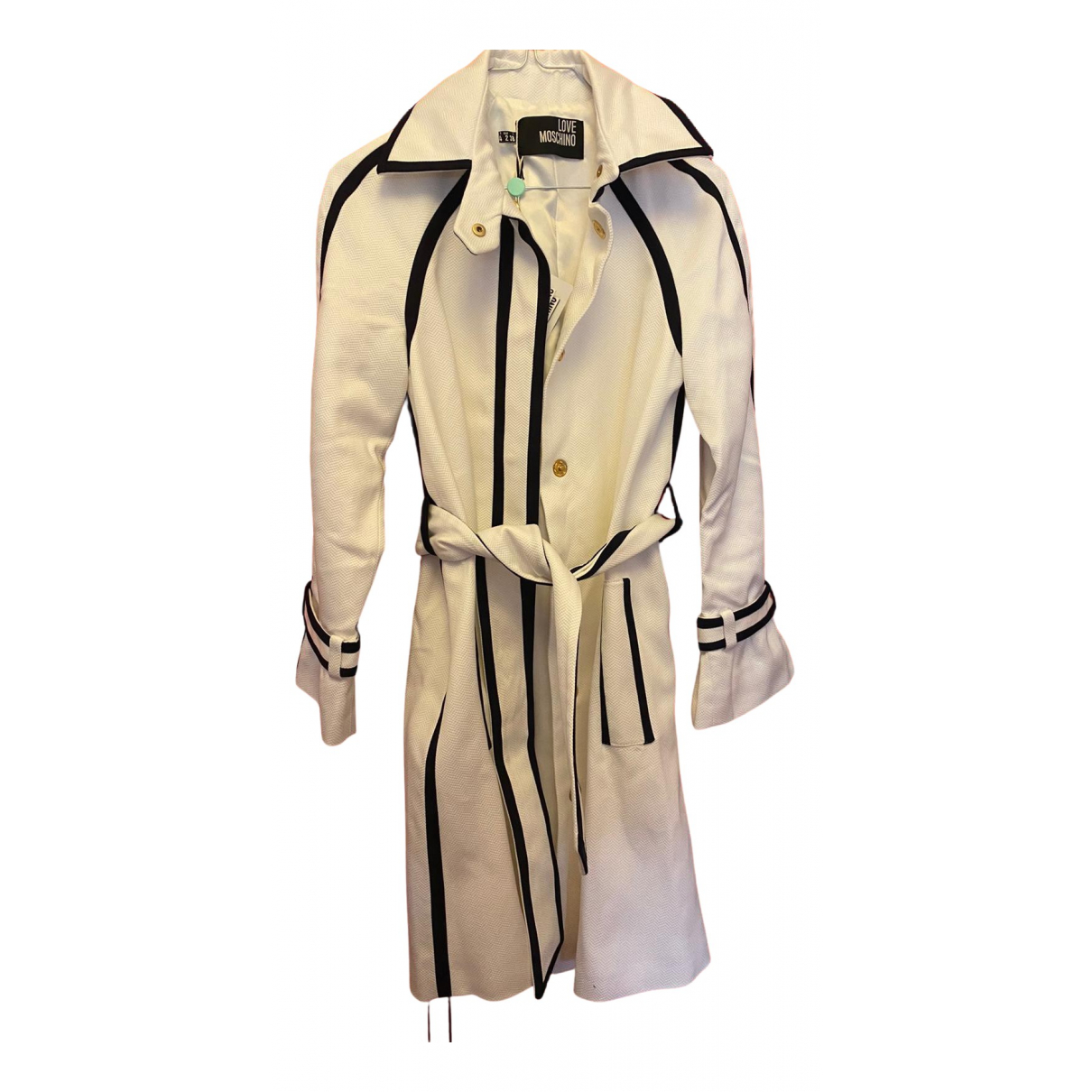 Moschino Love \N Trench in  Weiss Baumwolle
