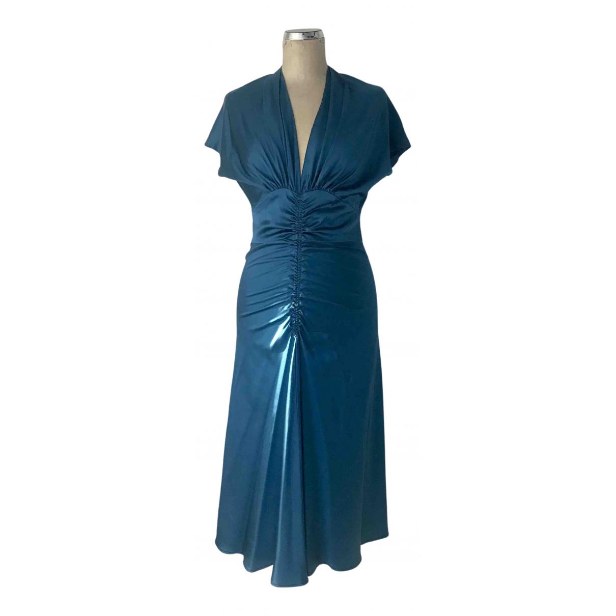Luisa Beccaria \N Kleid in  Blau Seide