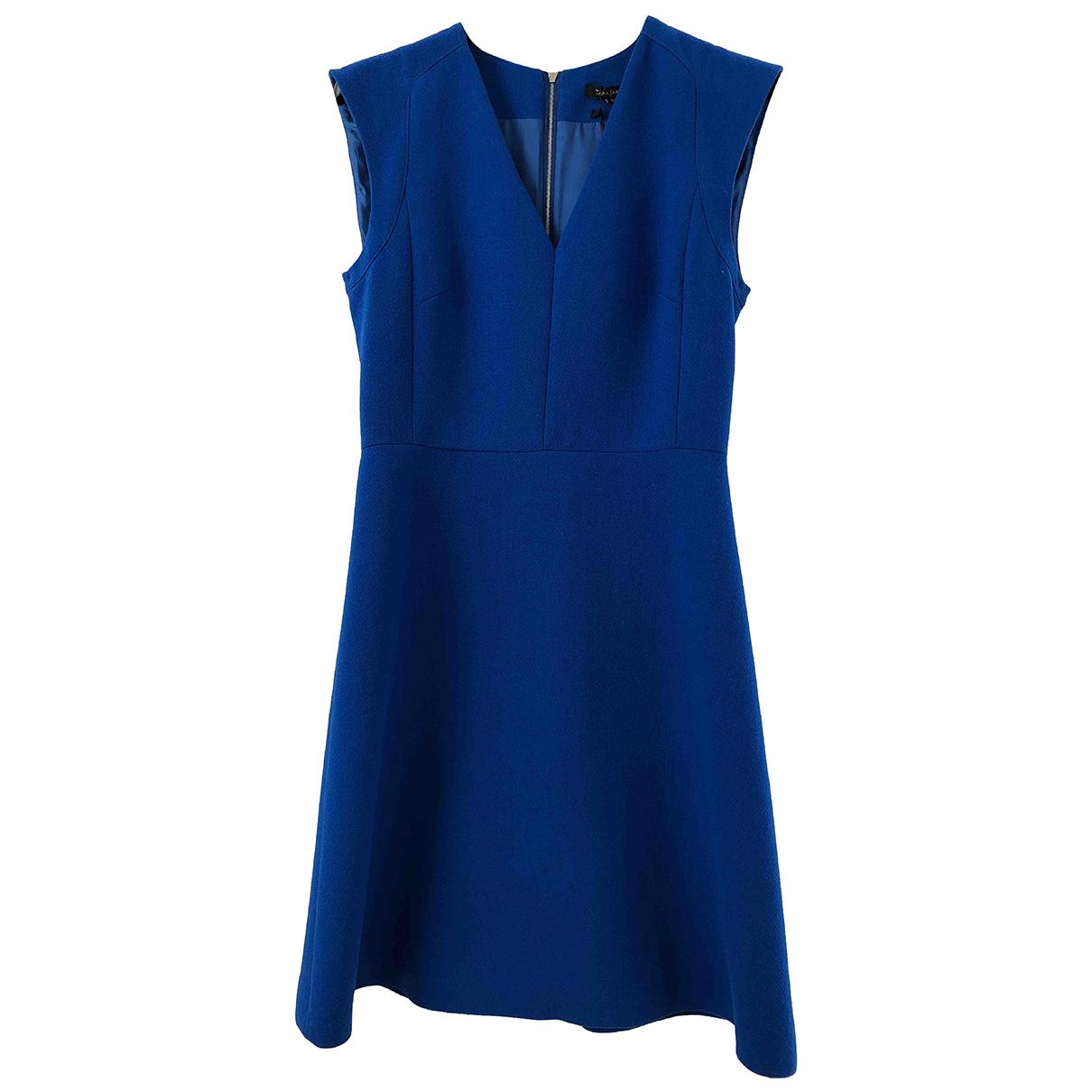 Tara Jarmon - Robe   pour femme en laine - bleu