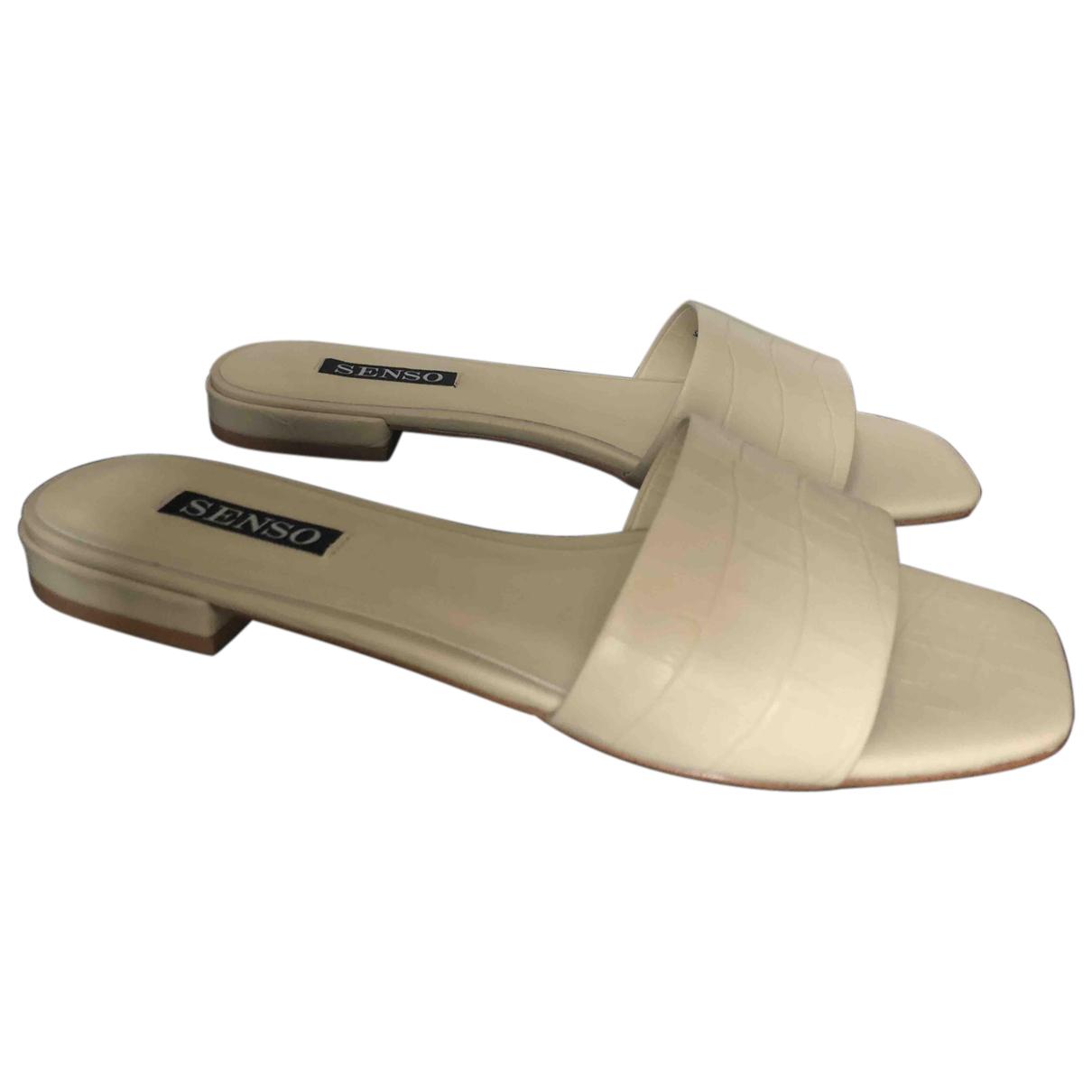 Senso \N Sandalen in  Beige Leder