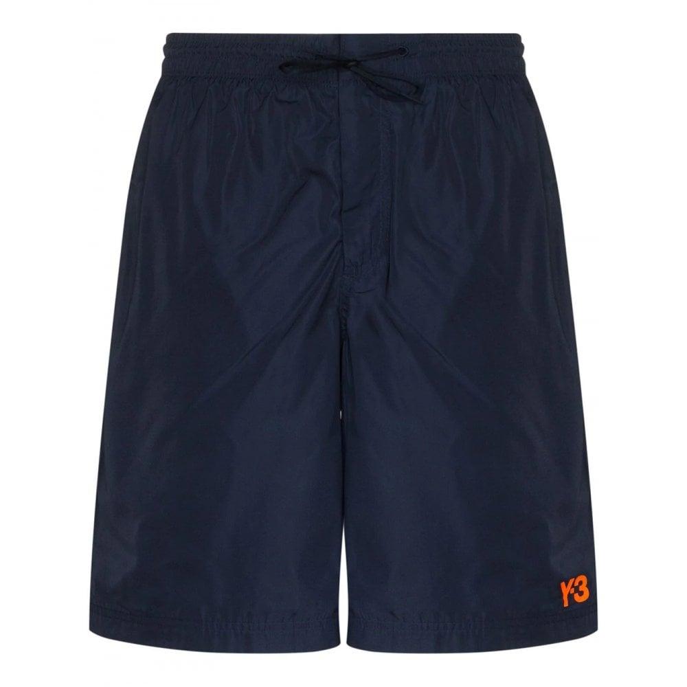 Y-3 Swim Shorts Colour: NAVY, Size: LARGE
