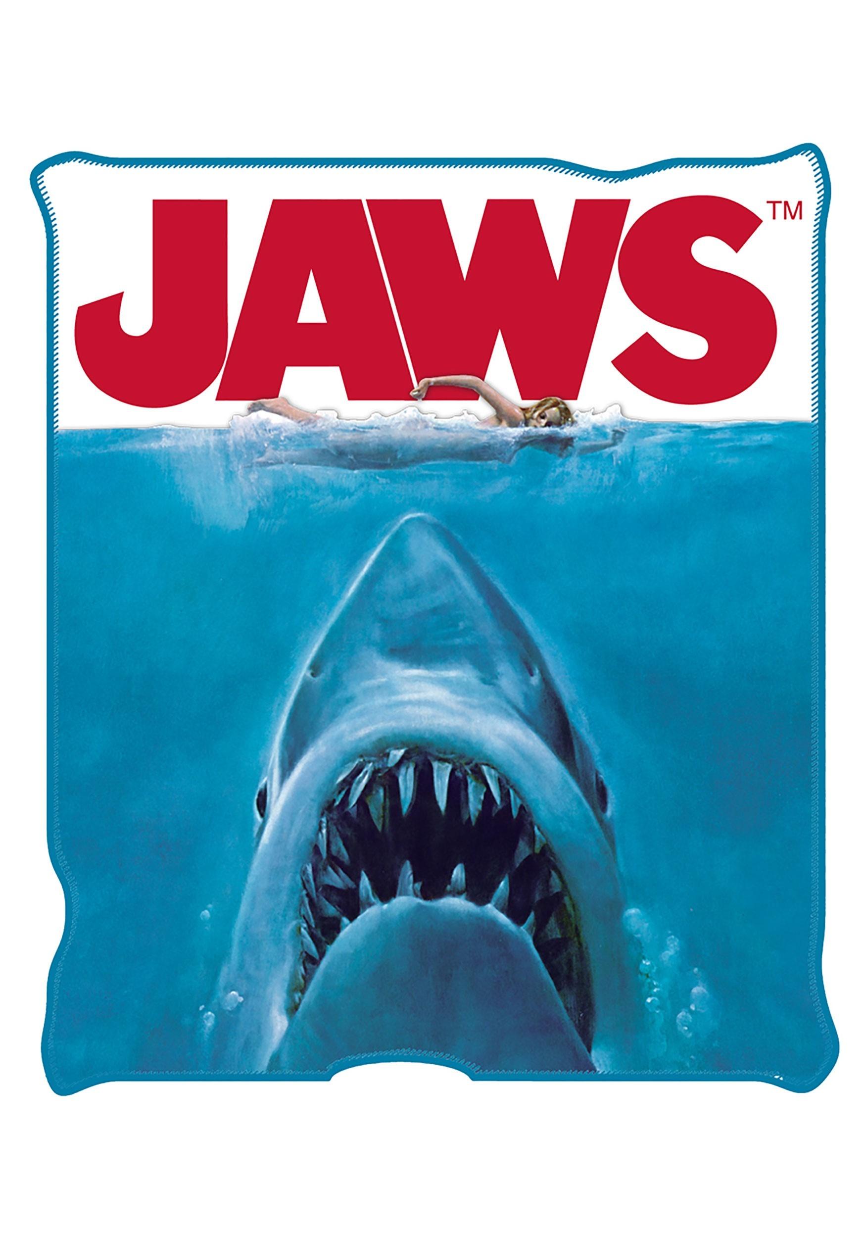 Jaws Movie 50x60in Micro Plush Throw Blanket