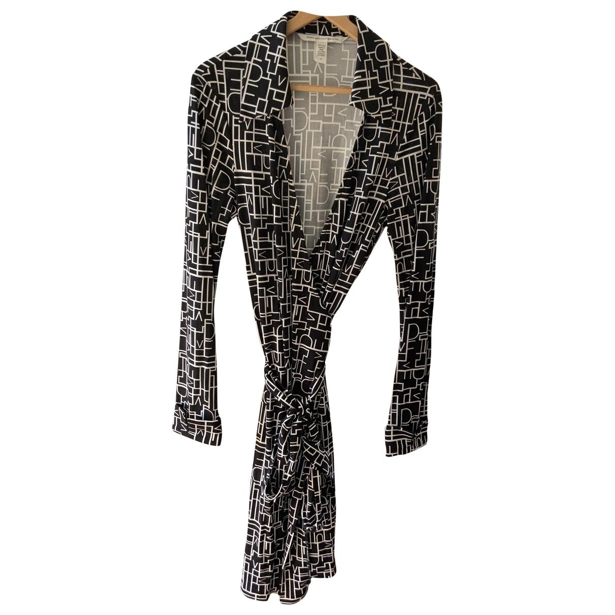 Diane Von Furstenberg \N Black Silk dress for Women 12 UK