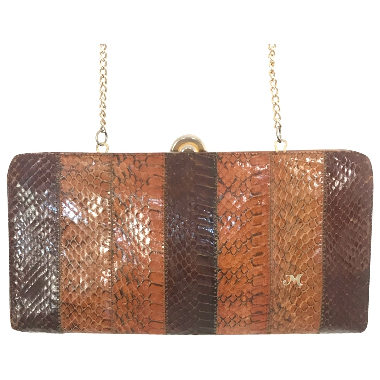 Non Signé / Unsigned \N Brown Lizard Clutch bag for Women \N