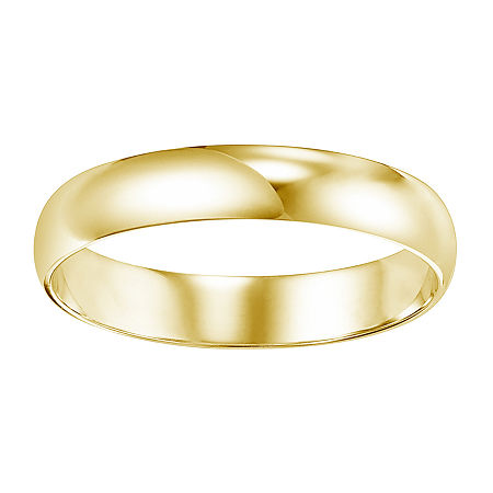 4MM 14K Gold Wedding Band, 4 1/2 , No Color Family