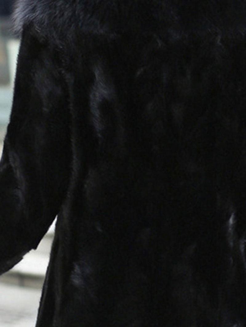 Ericdress Plain Mid-Length Loose Women's Faux Fur Overcoat
