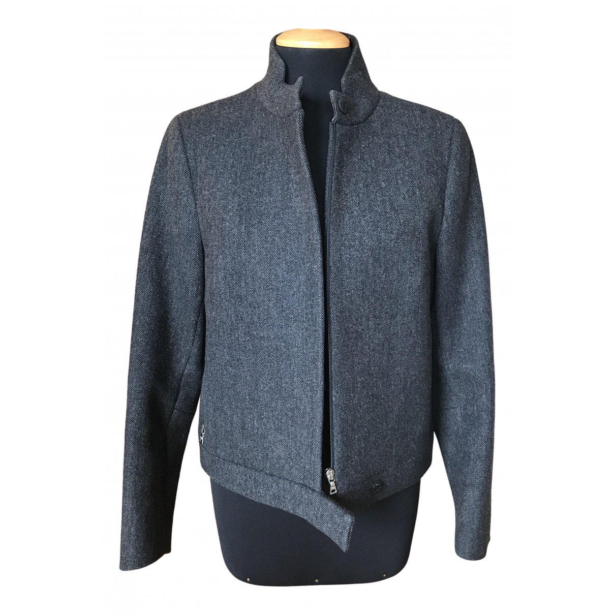 Prada - Veste   pour femme en tweed - anthracite