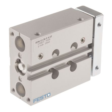 Festo Guide Cylinder 12mm Bore, 30mm Stroke, DFM Series, Double Acting