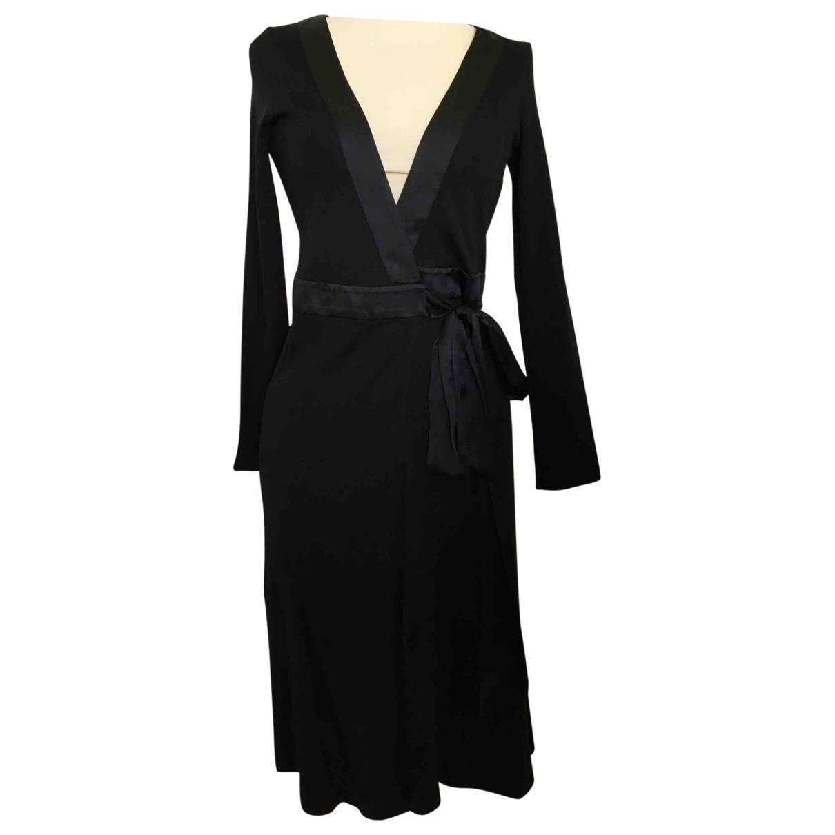 Diane Von Furstenberg \N Black Wool dress for Women 4 US