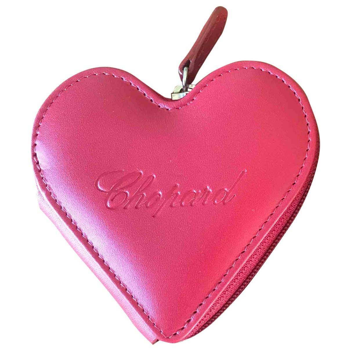 Chopard - Petite maroquinerie   pour femme en cuir - rouge