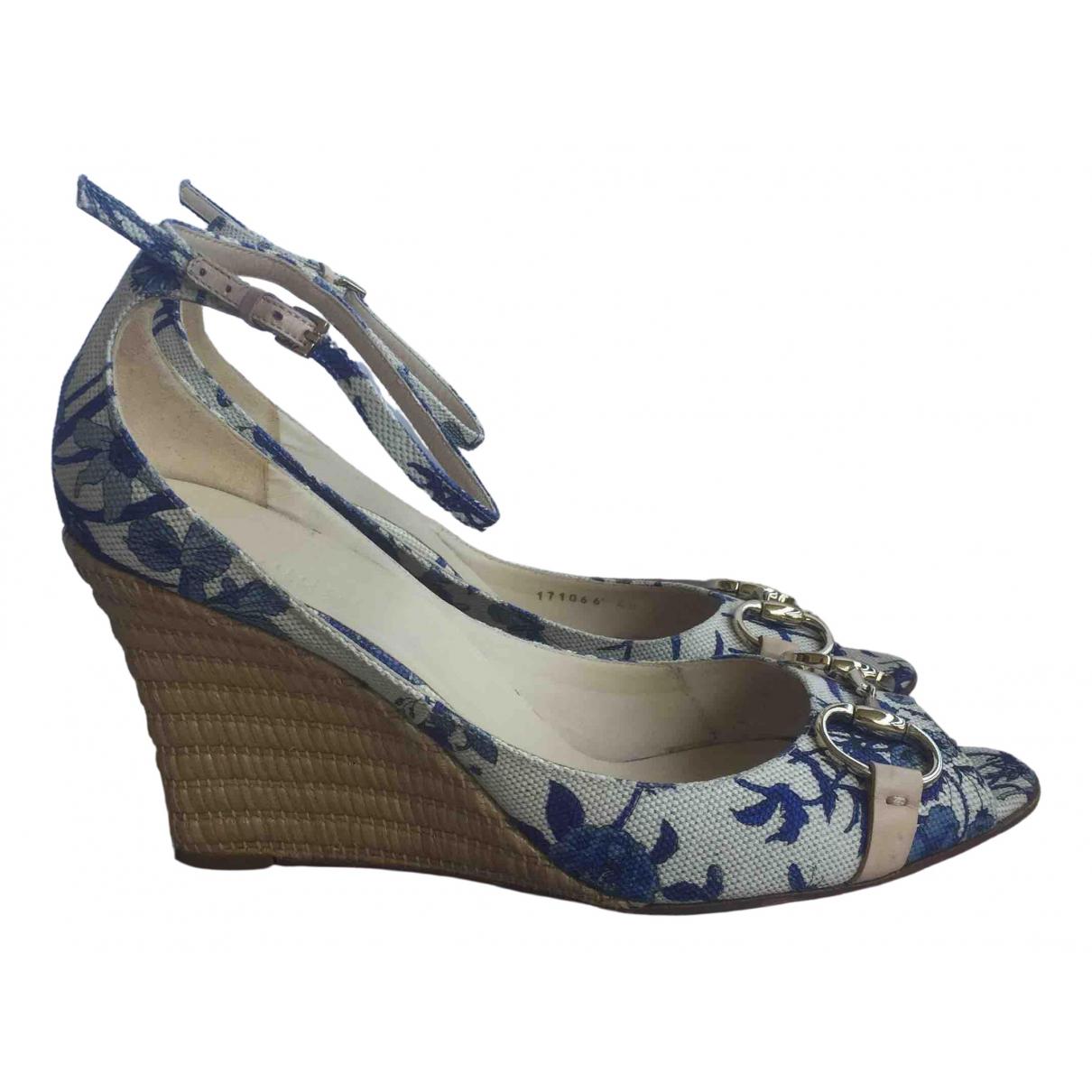 Gucci - Espadrilles   pour femme en toile - bleu