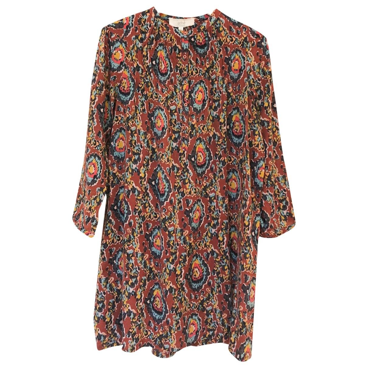 Vanessa Bruno Athe \N Burgundy Cotton dress for Women 38 FR