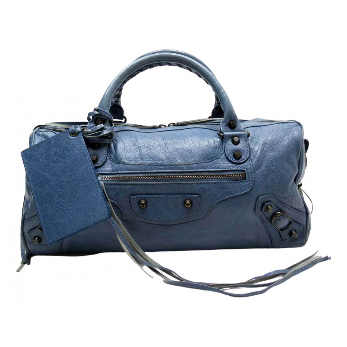 Balenciaga City Blue Leather handbag for Women \N