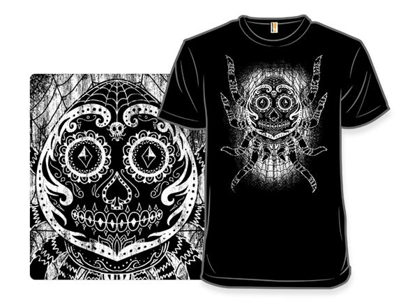 Sugar Skull Spider T Shirt