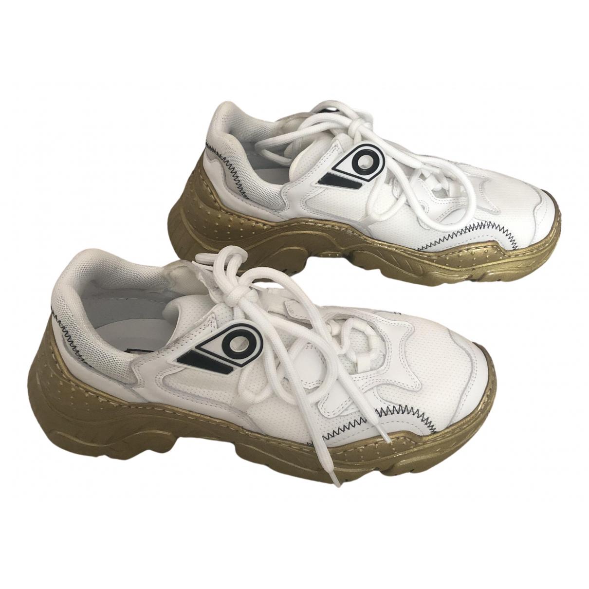 N°21 \N Sneakers in  Weiss Leder