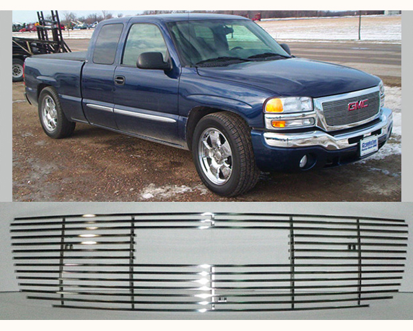 Quality Automotive Accessories Stainless Billet Grille GMC Sierra 2004
