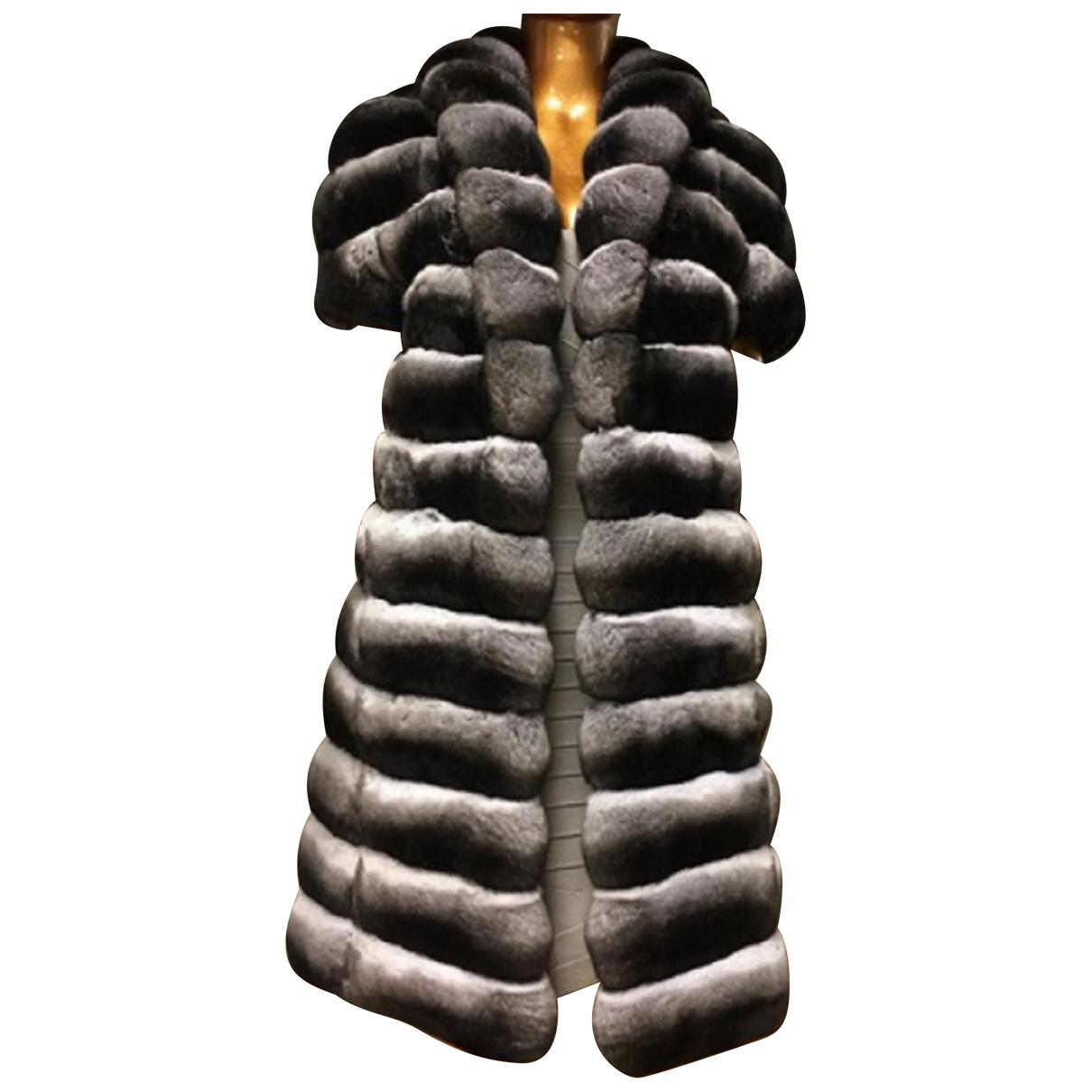 Kopenhagen Fur - Manteau   pour femme en chinchilla - multicolore