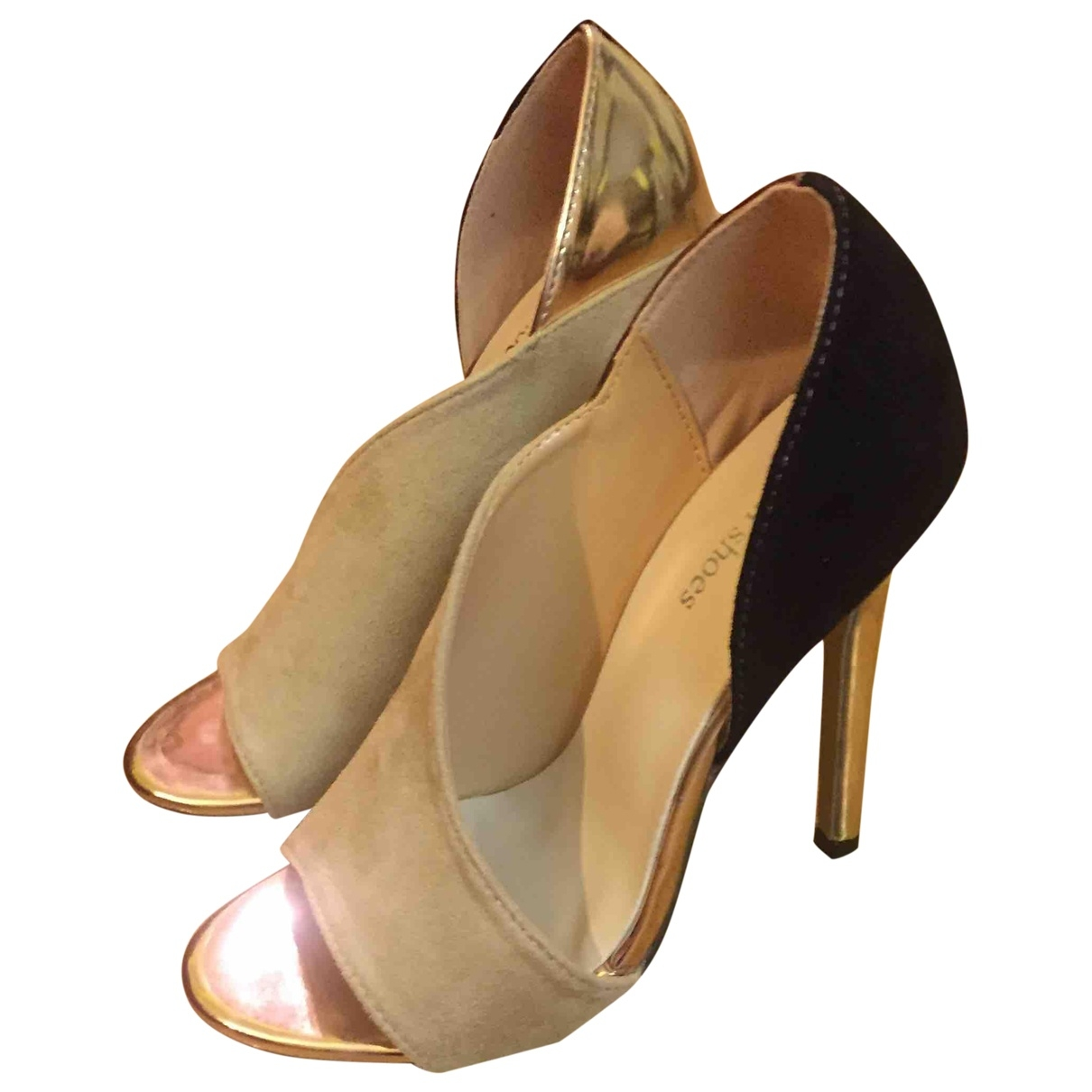 Non Signé / Unsigned \N Beige Cloth Heels for Women 36 EU