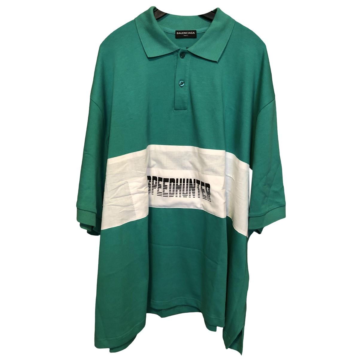 Balenciaga \N Green Cotton Polo shirts for Men XS International