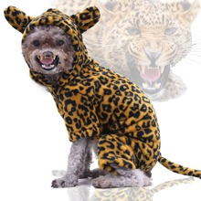 Hund Jumpsuit mit Leopard Muster