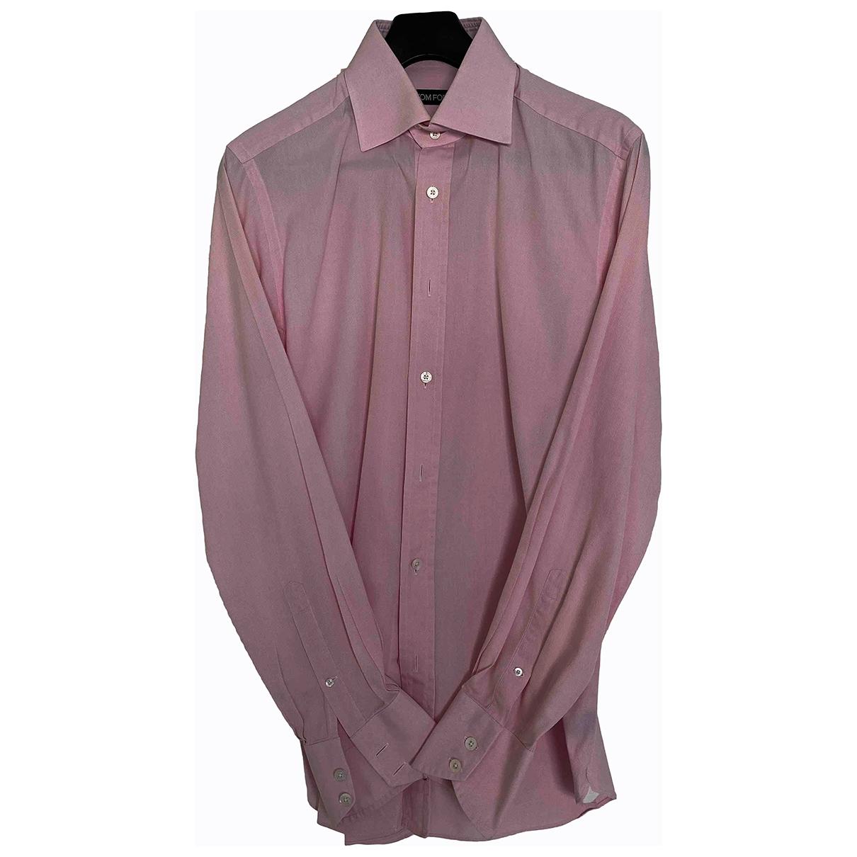 Tom Ford \N Hemden in  Rosa Baumwolle
