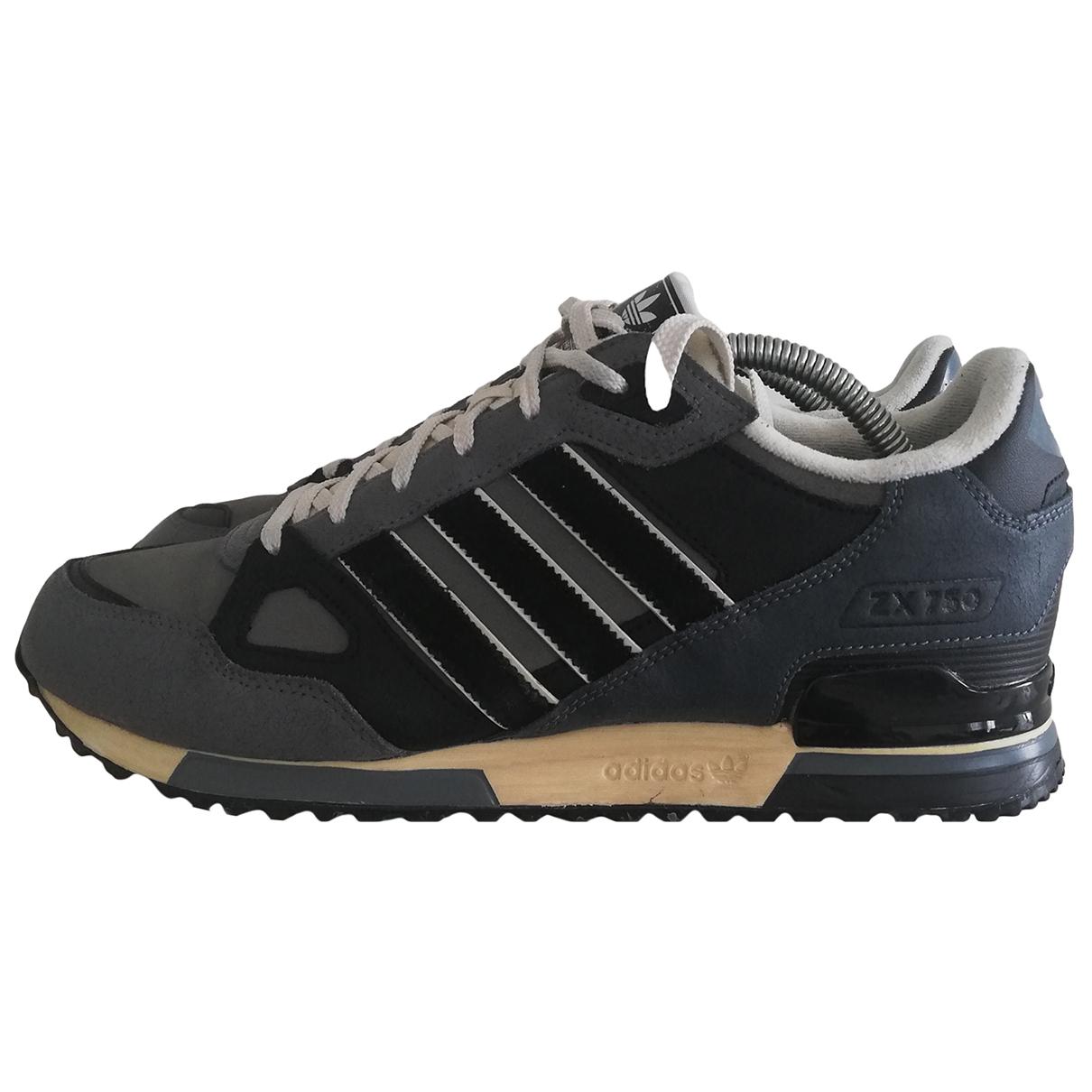 Adidas - Baskets ZX pour homme en cuir - gris