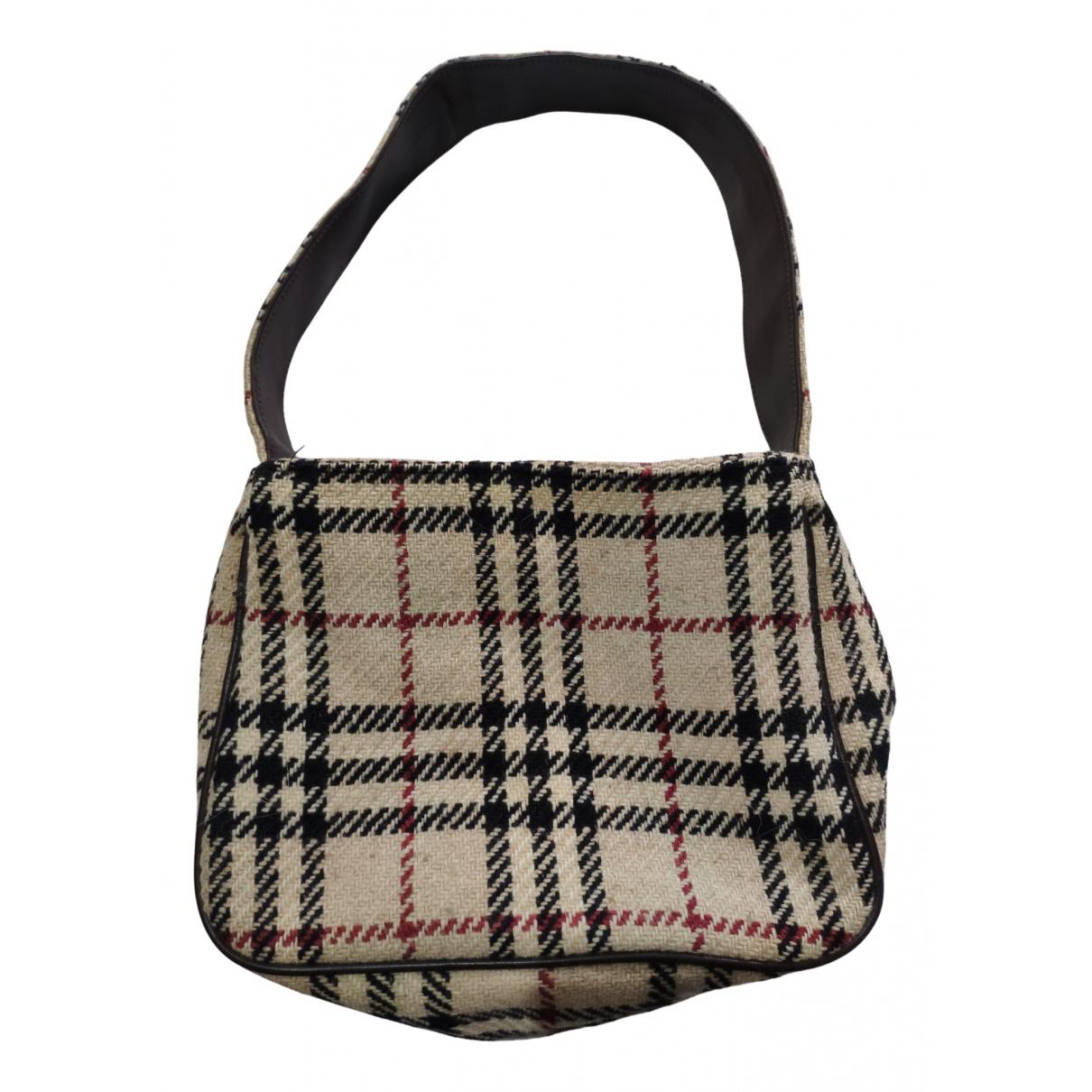 Burberry \N Handtasche in  Kamel Wolle