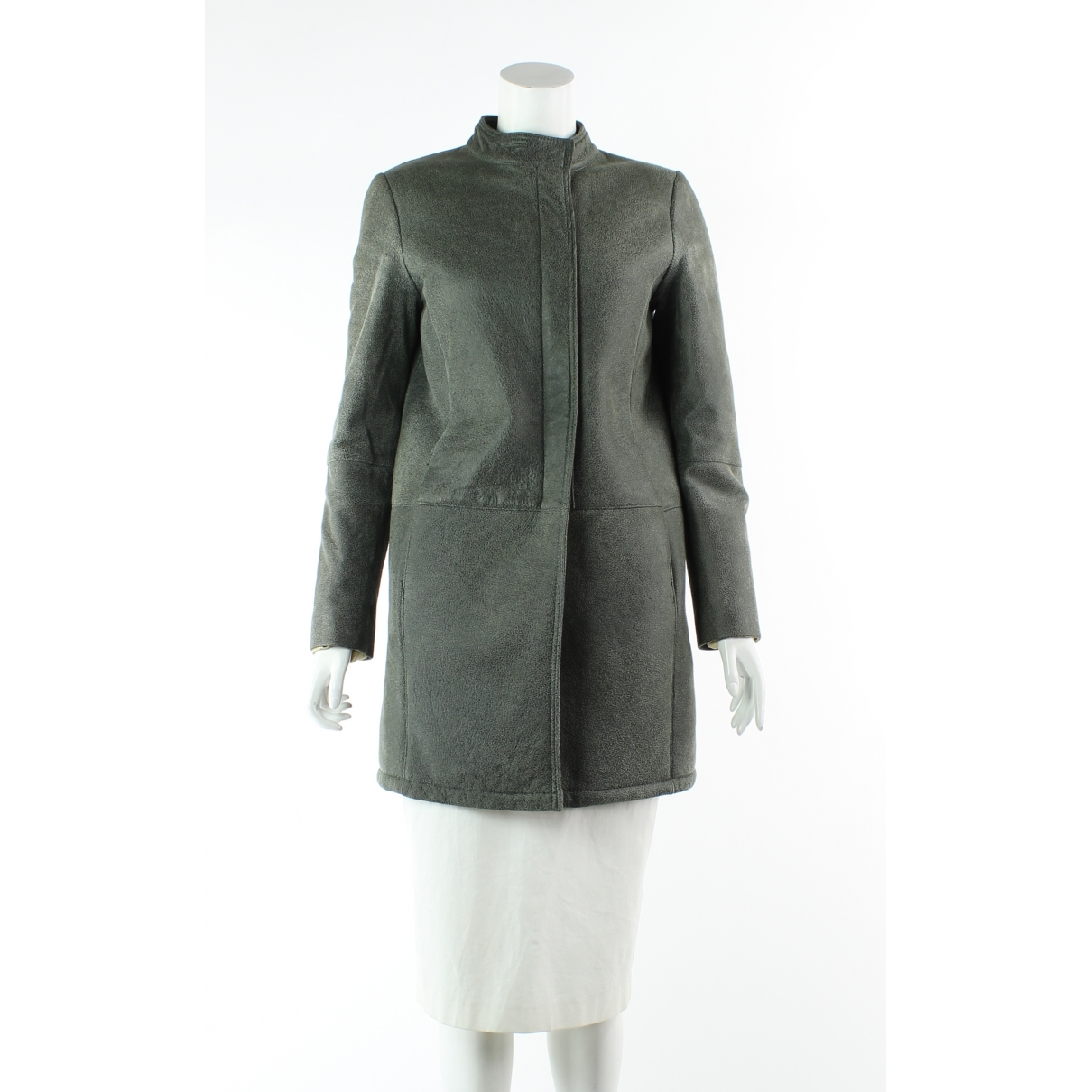 Maje - Manteau   pour femme en laine - kaki