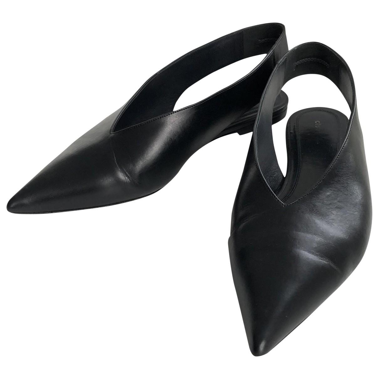 Celine \N Mokassins in  Schwarz Leder