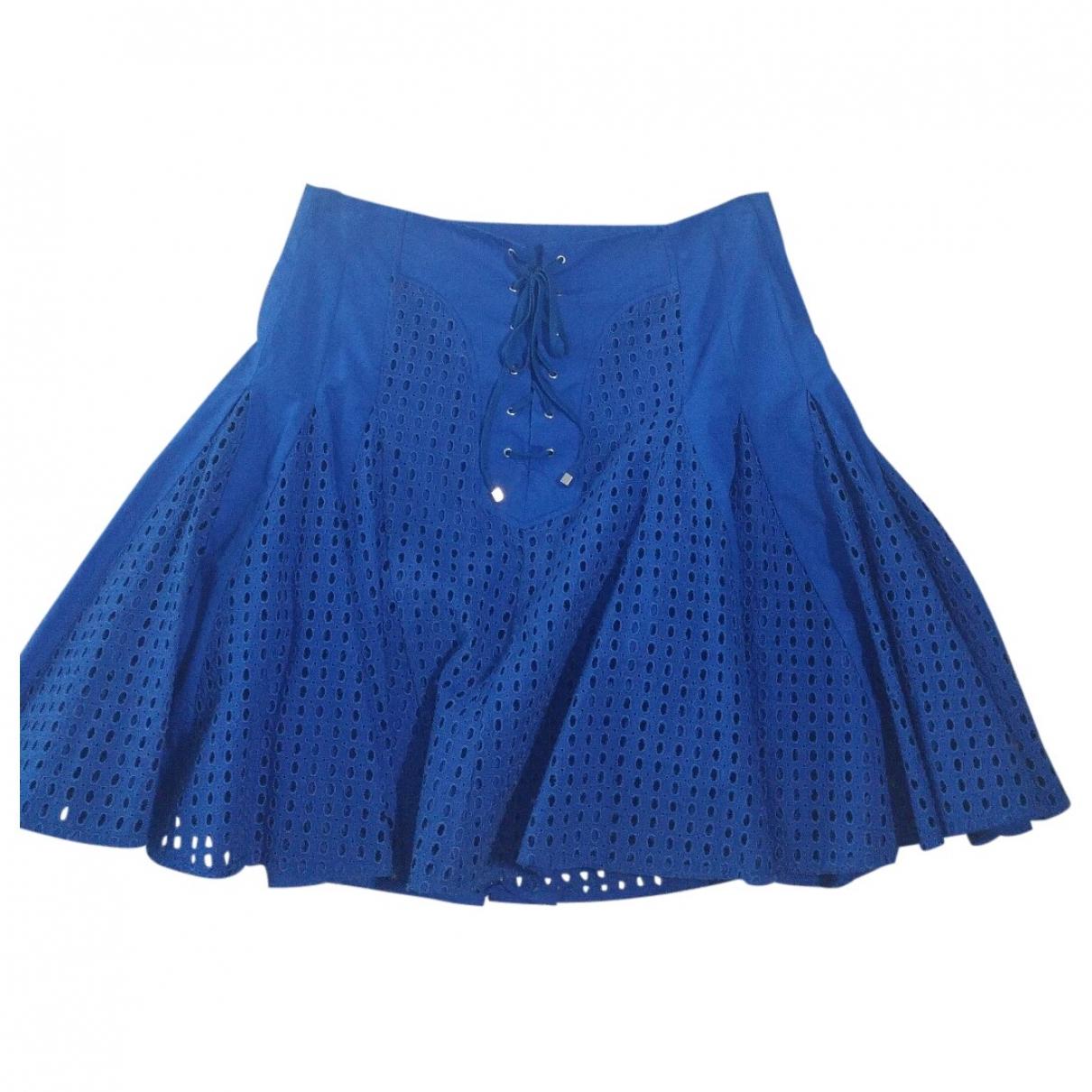 Pinko \N Blue Cotton skirt for Women 42 IT