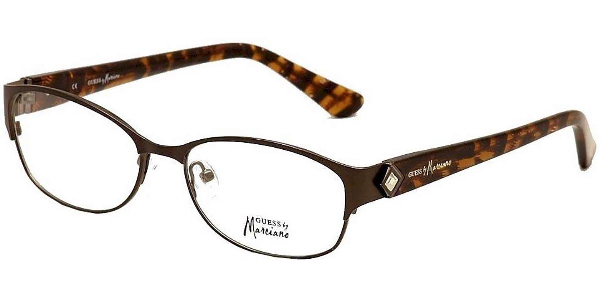 Guess GM 0211 D96 Women's Glasses Brown Size 54 - Free Lenses - HSA/FSA Insurance - Blue Light Block Available