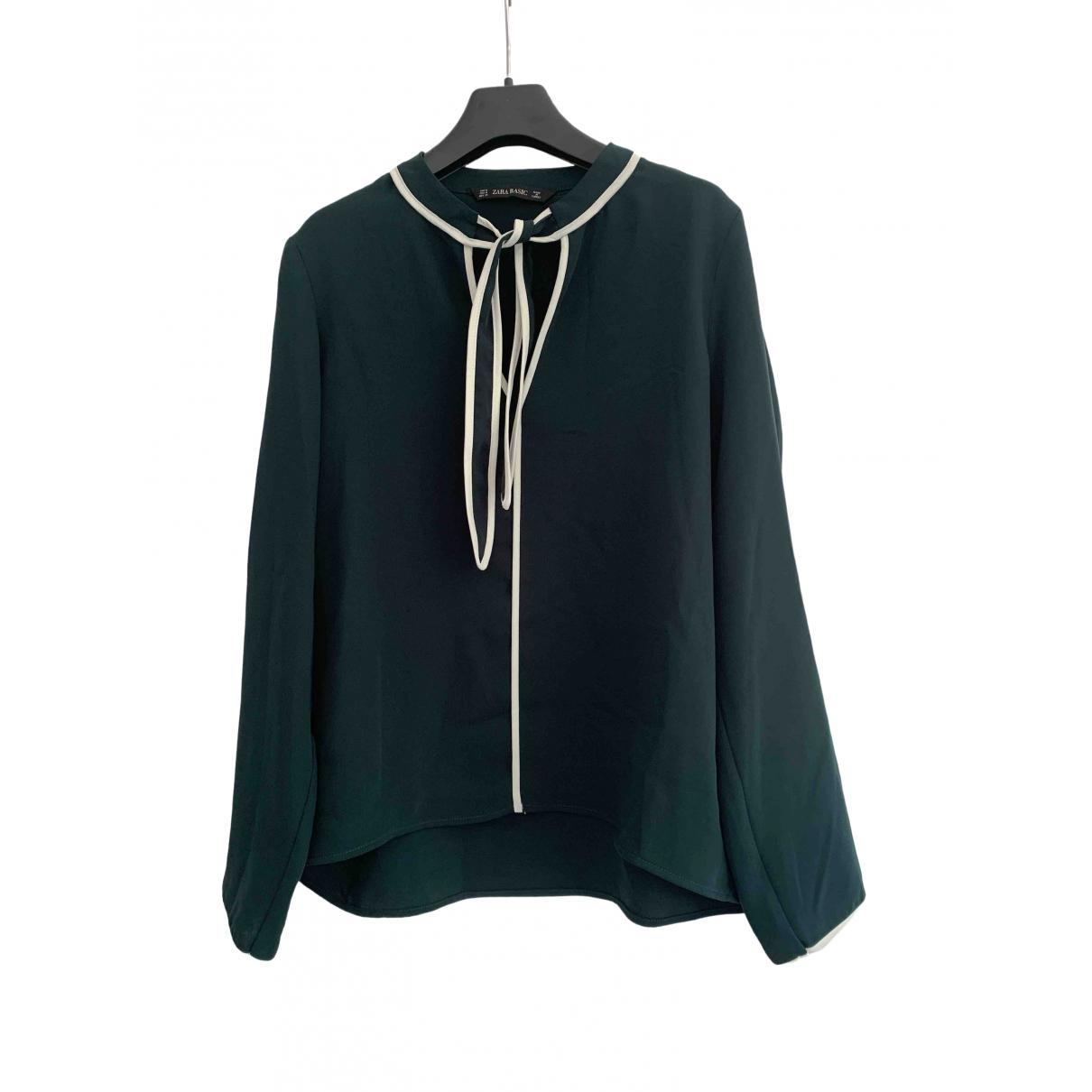 Zara \N Green  top for Women 40 FR