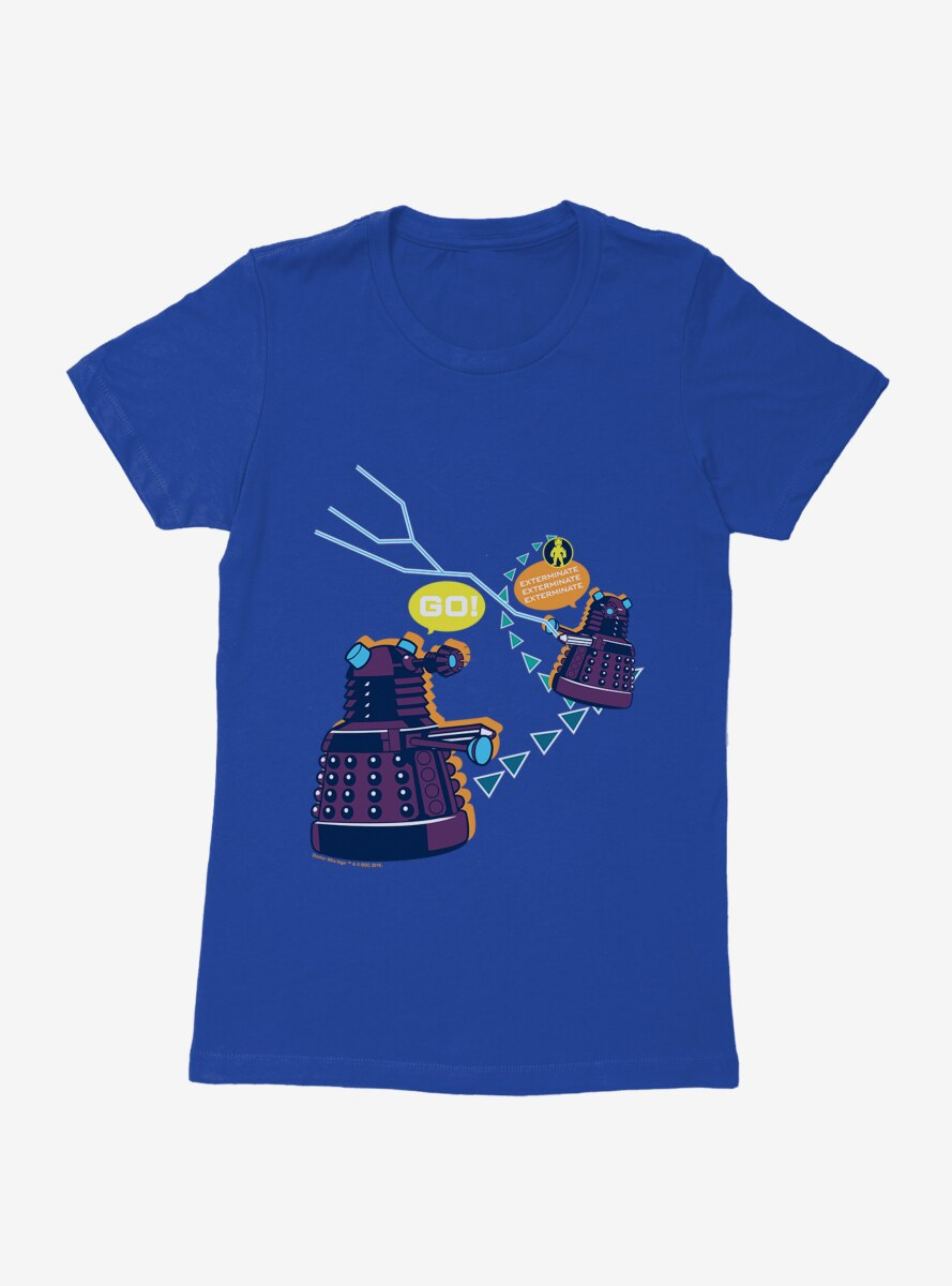 Doctor Who Dalek Exterminate Video Game Womens T-Shirt