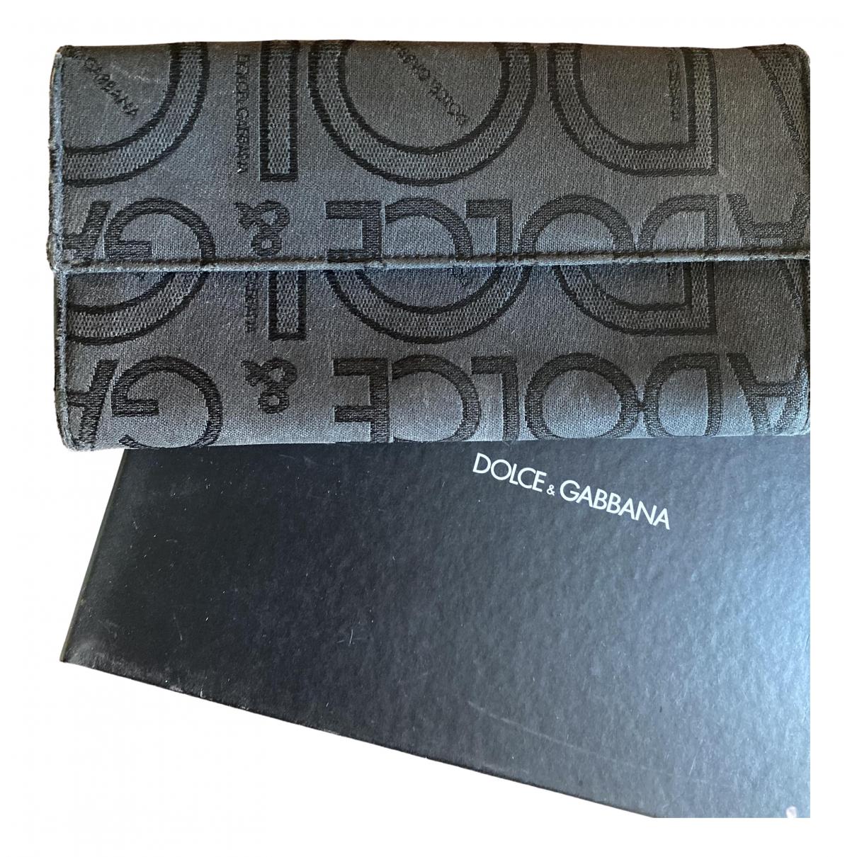 Dolce & Gabbana - Portefeuille   pour femme en toile - noir