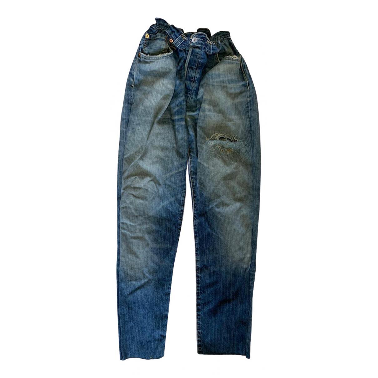 Levi's 501 Blue Cotton Jeans for Women 34 US
